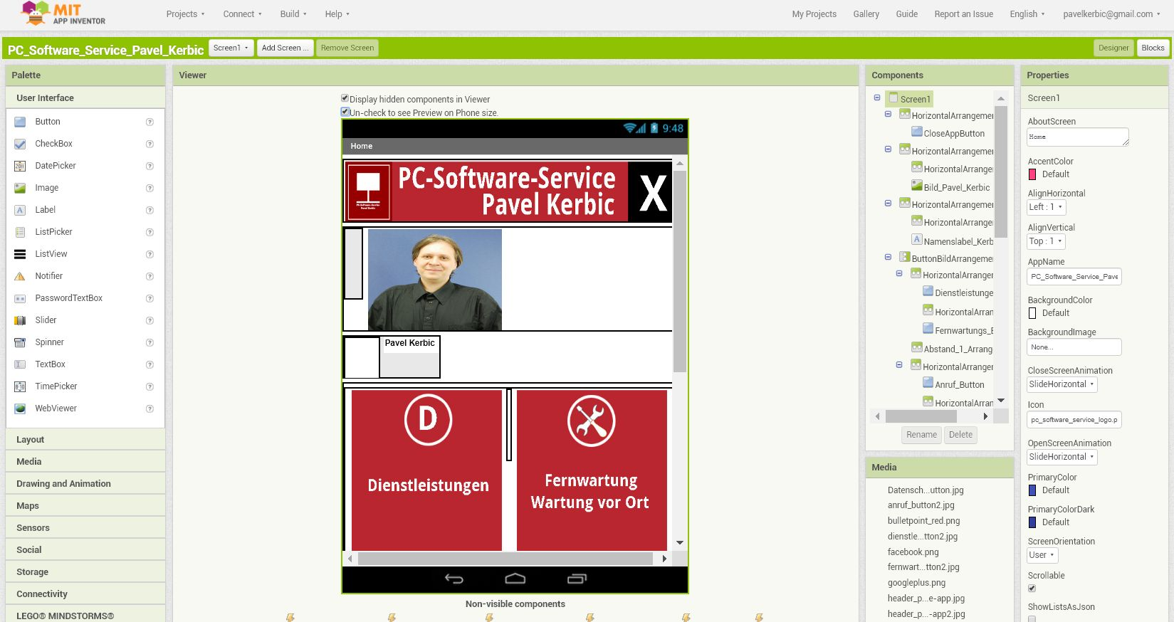 PK-Software-Service Pavel Kerbic - MIT AppInventor